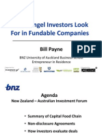 What Angel Investors Look for in Fundable Companies, NZ and AUS