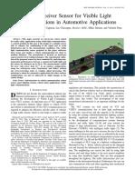 2015 IEEE Sensors - August Novel VLC Receiver for Automotive Aplications