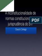 A Inconstitucionalidade das Normas Constitucionais
