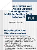 Study on Modern Well Test Analysis Applied to Homogeneous Multiple-Sealing Fault Reservoirs