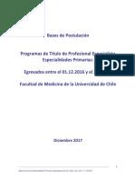 Bases 2017 Especialidades médicas Uchile