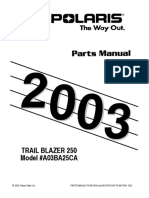 Polaris Trail Blazer 250 2003 Parts Manual