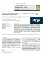 Agronomic Biofortification of Upland Rice With Selenium a 2018 Journal of Ce