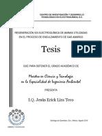 Regeneración Vía Electroquímica de Aminas Utilizadas en El Proceso de Endulzamiento de Gas Amargo.