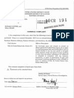 Luster and Wiley criminal complaint