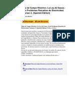 Flujo de Campo Elctrico La Ley de Gauss Serie Problemas Resueltos de Electricidad Volumen 3 Spanish Edition by Willians Medina b01dd8is7m