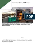 Contemporary House With Concrete Walls – Futurist Architecture