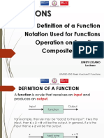 Week 4 Lecture 1 Functions