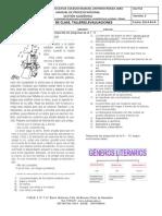 Evaluación tipología textual y géneros literarios