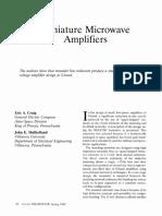 Miniature Microwave Amplifiers