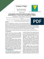 Wind Speed Modelling Using Inverse Weibull Distrubition- A Case Study for B__lec__k, Turkey[#299493]-285602