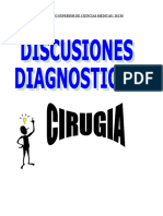 DISCUSIONES DIAGNOSTICAS EN CIRUGIA
