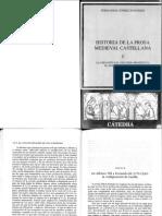 Historia de La Prosa Medieval Castellana i (Cap. i Los Orígenes de La Prosa Medieval Castellana)
