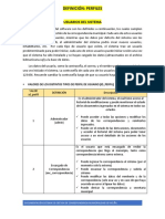 Sistema de Gestión de Correspondencia 2. DEFINICION Perfiles y Tipos de Usuario