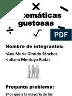 Proyecto de Investigacion (Matematicas Gustosas)