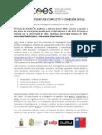 Convocatoria COES para Dos plazas de investigación postdoctoral en Chile, 2019