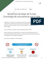 Beneficios de Dejar de Fumar_ Cronología de Una Persona Que Lo Deja