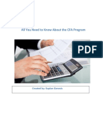 All You Need to Know About the CFA Program