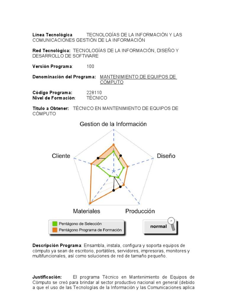 Programa Mantenimiento de Equipos de Computo