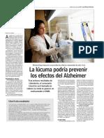 Fruta Lucuma Propiedades Antioxidantes Alzheimer