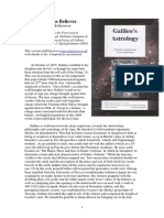 Galileo as Beliver Nick Kollerstrom 2003