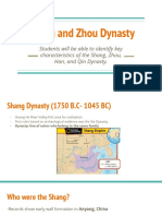 shang and zhu dynasty
