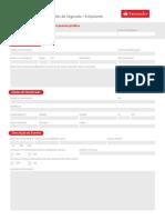Lista Documentos Seguro de Vida Santander