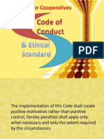 Sample Code of Conduct and Ethical Standards for Cooperatives