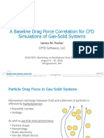 A Baseline Drag Force Correlation CFD Simulation Gas-Solid Systems