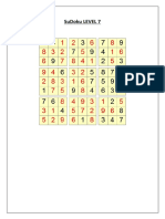 Sudoku Level 7