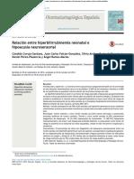 Relación Entre Hiperbilirrubinemia Neonatal e Hipoacusia Neurosensorial