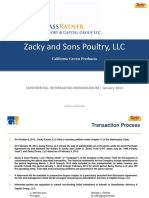 Zacky Sons Poultry LLC - Confidential Information Memorandum