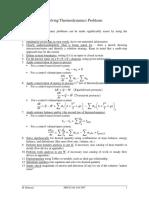 Summary Thermodynamics Problems