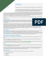 RegEx Overview
