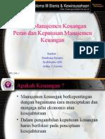 Dasar Manajemen Keuangan