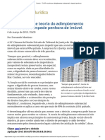 ConJur - TJ-SP Reconhece Adimplemento Substancial e Impede Penhora