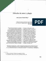 Derecho de Autor y Plagio