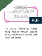 Doa Sebelum Makan - Warna Dan Sambung Titik