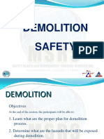 13. NEW Msrs Demolition Safety