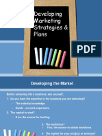 Market Strategies & Plan