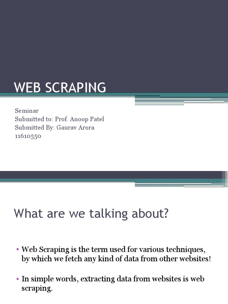 Scraping   Html   World Wide Web