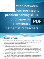 The Relation Between the Problem Posing and Problem