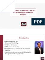 How to Set Up Sampling Zone for an Environmental Monitoring Program