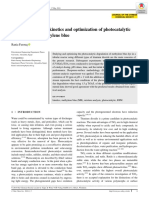 Investigation of the Kinetics and Optimization of Photocatalytic