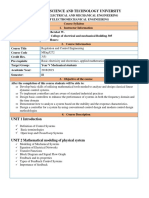 Course Outline for Regulation