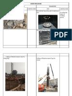 WORK PROCEDURE Comaparison Sheet for Pile