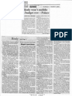 Philippine Star, Mar. 7, 2019, Rody won't meddle in budget row - Palace.pdf