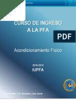Cuadernillo Ingreso PFA 2018-2019 (Acondicionamiento Físico)