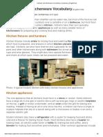 Kitchens and Kitchenware Vocabulary _ Vocabulary _ EnglishClub