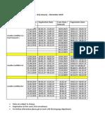 Examination Schedule a1 b1 2019